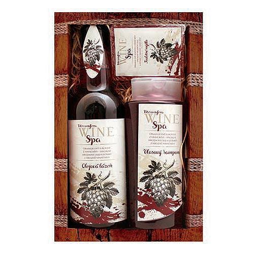 Wine Spa - šampón (250ml), olejové kúpele (500ml), toaletné mydlo (70g), (8134)