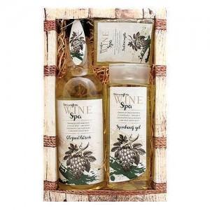 Wine Spa - darčekové balenie kozmetiky (sprchový gél+olejové kúpele+mydlo)