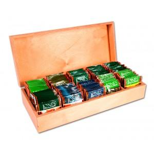 Drevená darčeková krabica na čaj (10x10) - s motívom slona