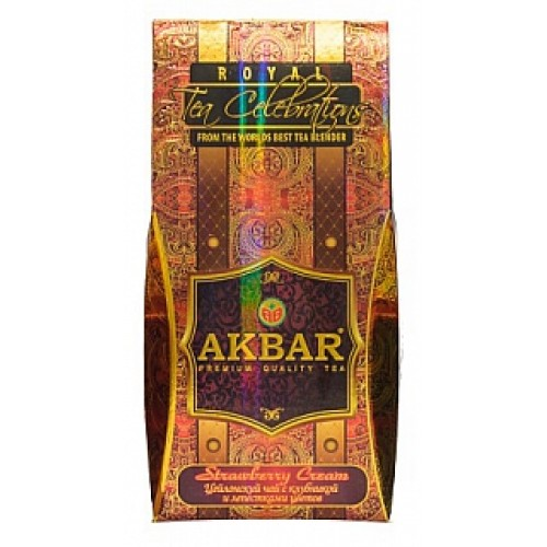 AKBAR New Packet Strawberry Cream papier 100g (1580)