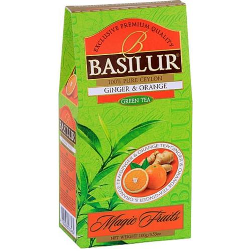 BASILUR Magic Green Ginger & Orange papier 100g (3801)