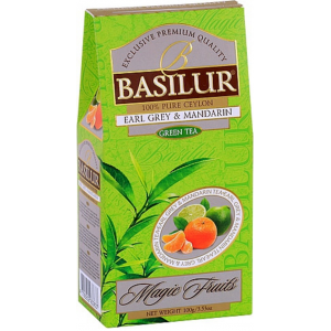 BASILUR Magic Green Earl Grey & Mandarin papier 100g (3811)