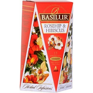 BASILUR Herbal Infusions Rosehip & Hibiscus 15x2g (4095)
