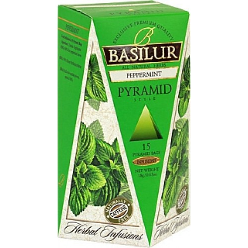 BASILUR Herbal Peppermint Pyramid 15x1,2g (4098)