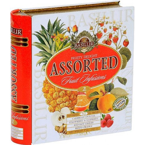 BASILUR Fruit Infusions Book Fruity Delight plech 32x1,8g (4435)
