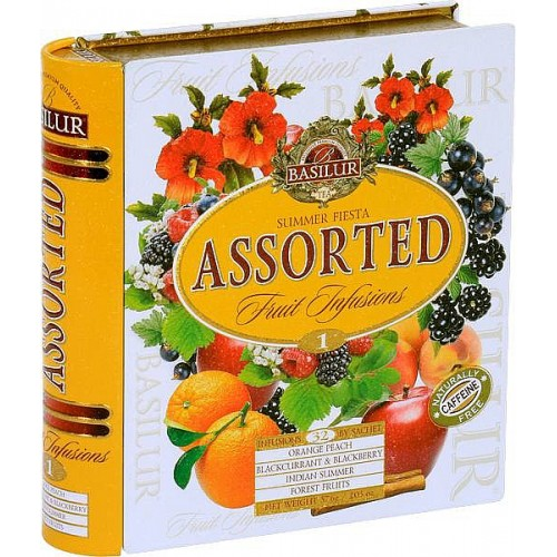 BASILUR Fruit Infusions Book Summer Fiesta plech 32x1,8g (4436)