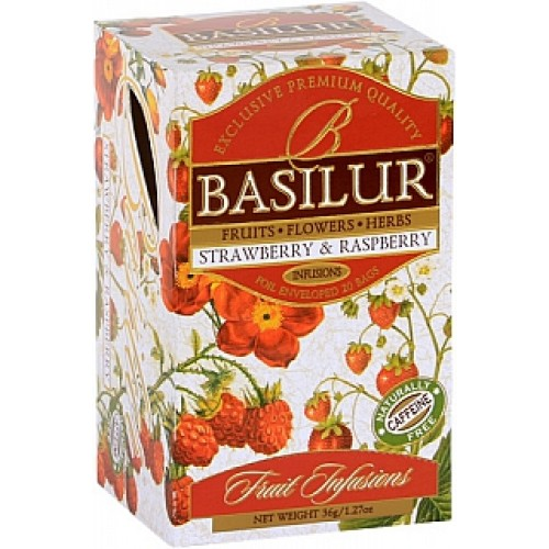 BASILUR Fruit Strawberry & Raspberry 20x1,8g (4447)