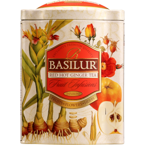 BASILUR Fruit Red Hot Ginger plech 100g (4604)