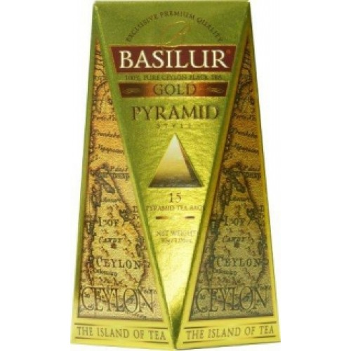 BASILUR Island of Tea Gold Pyramid 15x2g (4631)