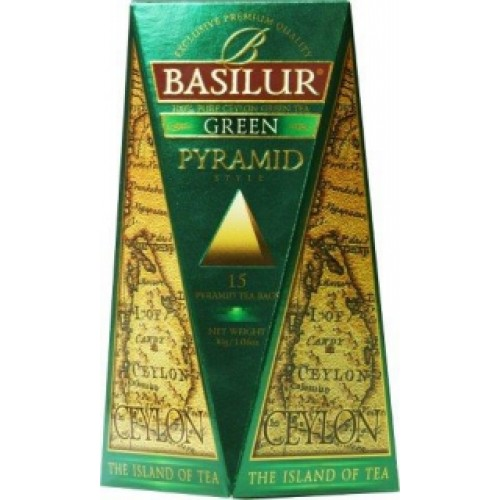BASILUR Island of Tea Green Pyramid 15x2g (4632)