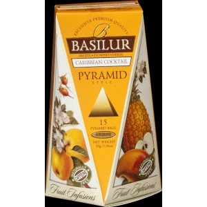 BASILUR Fruit Caribbean Cocktail Pyramid 15x2g (4761)