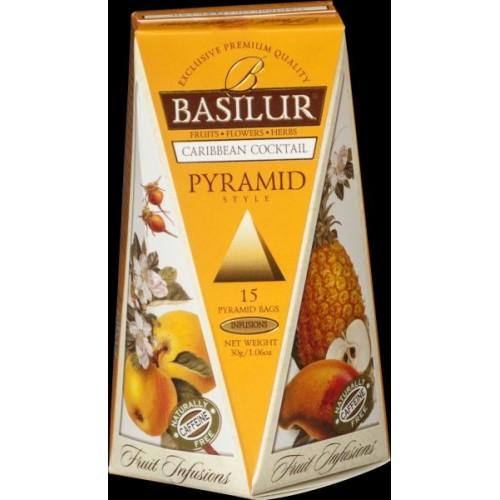 BASILUR Fruit Caribbean Cocktail Pyramid 15x2g (4761)