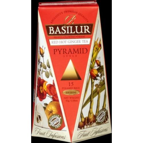 BASILUR Fruit Red Hot Ginger Pyramid 15x2g (4762)