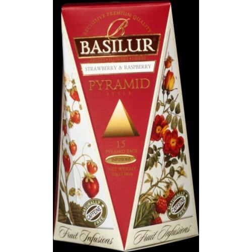 BASILUR Fruit Strawberry & Raspberry Pyramid 15x2g (4764)