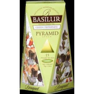 BASILUR Bouquet Green Freshness Pyramid 15x2g (4790)