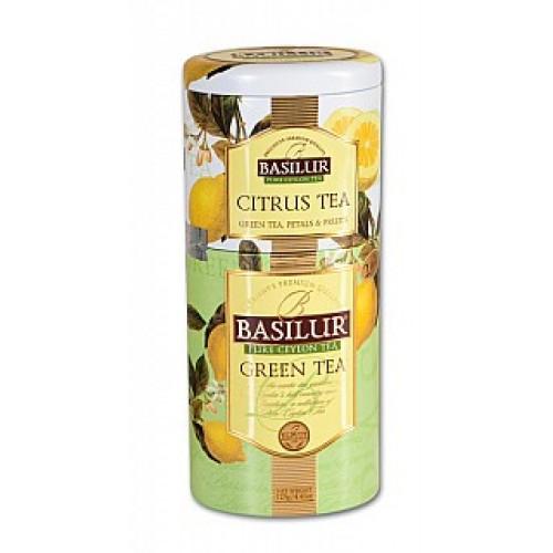 BASILUR 2v1 Citrus & Green plech 50g & 75g (7537)