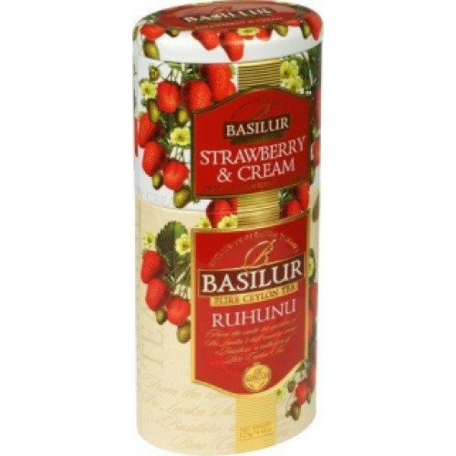 BASILUR 2v1 Strawberry & Ruhunu plech 50g & 75g (7538)