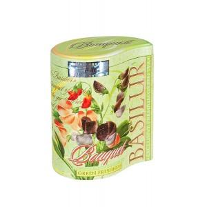 BASILUR Bouquet Green Freshness plech 100g (7544)