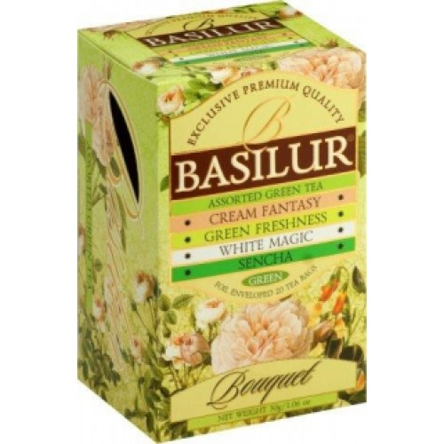 BASILUR Assorted Green Bouquet 4x5x1,5g (7633)