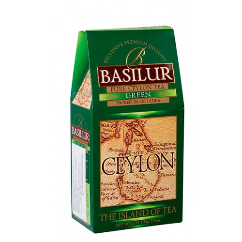 BASILUR Island of Tea Ceylon Green papier 100g (7651)
