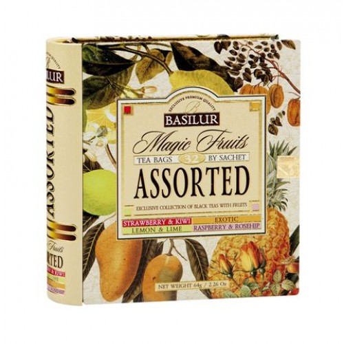 BASILUR Book Assorted 32 Magic Fruit plech 32x2g (7770)