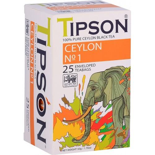 TIPSON Ceylon No.1, 25x2g, (7838)