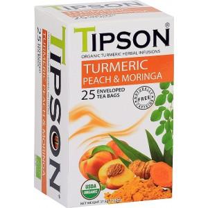 TIPSON Wellness Organic Turmeric & Peach Moringa, 25x1,5g (5020)