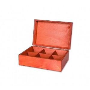 Drevený box na čaje 6x10 (93086)