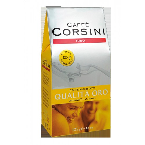 Káva Corsini Qualita' Oro, mletá, 125g (6360)