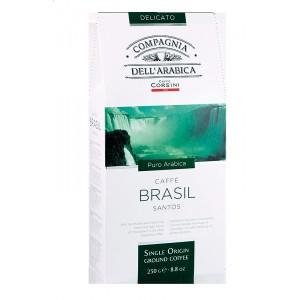 Káva Corsini Single Brasile Santos, mletá, 250g (6203)