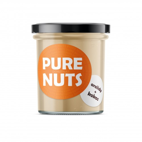 PURE NUTS Arašidy + kokos, 330g