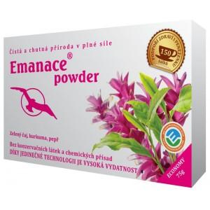 Emanace powder - zelený čaj s korením 75g