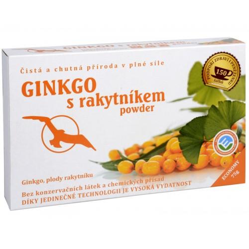 Ginkgo s rakytníkom powder - ginkgo, plody rakytníka 75 g