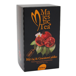 Majestic Tea Biely čaj & Granátové jablko (20x1,5g)