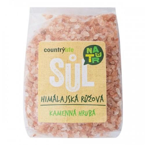COUNTRY life himalájska soľ hrubá, ružová, 500g
