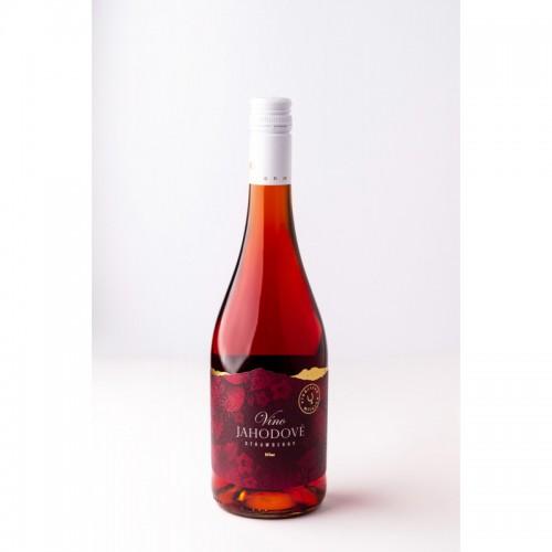 Miluron - jahodové víno, 0,75l