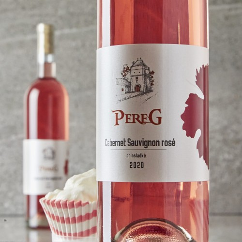 Pereg Cabernet Sauvignon rosé `20 polosladké 0,75l