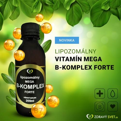 Lipozomálny vitamín mega B-komplex forte - zdravý svet, 200ml